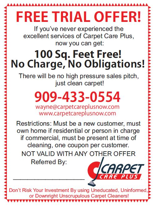 Free Trial Offer Carpet Care Plus